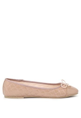 London Rag 米褐色 裸體女士平底鞋 SH1692 83F7CSHDC56C58GS_1