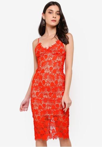 Bardot orange Tayla Lace Dress C729DAA79E0BF8GS_1