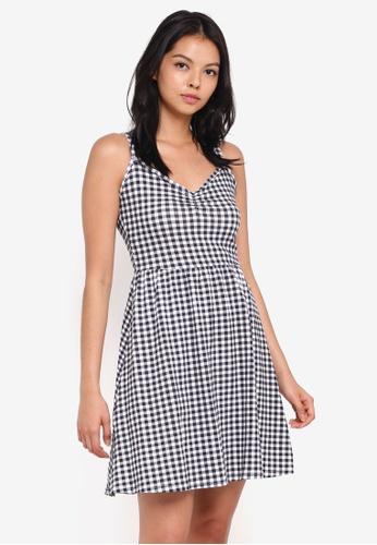 Dorothy Perkins black Gingham Strappy Sun Dress BD525AAC45EC2DGS_1