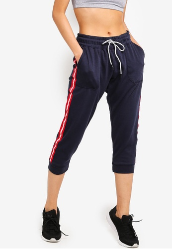 29fad0f3266ae Cotton On Body pink and blue and navy Cropped Gym Track Pants  4C7FDAA7D10265GS_1