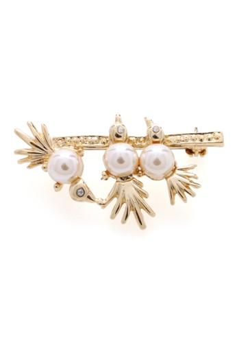 1901 Jewelry gold 1901 Jewelry Three Little Bird Brooch 19910AC09PWKID_1