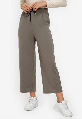 ZALORA ACTIVE green Relaxed Wide Leg Pants 95350AA1A4DA96GS_1