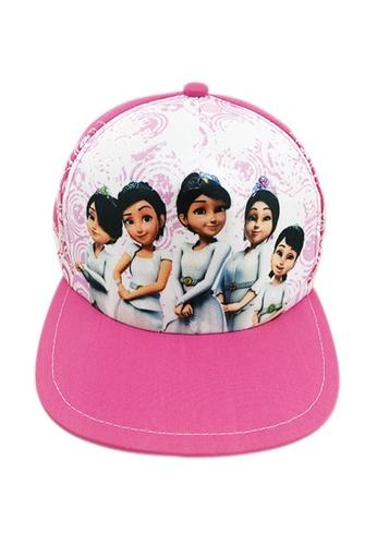 UPIN & IPIN pink Snapback Cap Puteri 599D1KC4B40FE0GS_1
