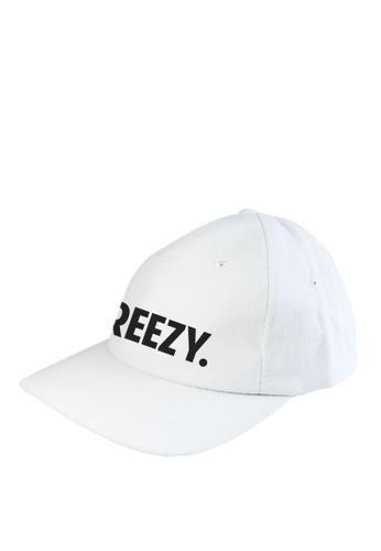 HYPE MNL white Breezy  Baseball Cap C9FBBAC79E4FDFGS_1