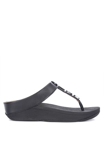 87232430b0b Shop Fitflop Fino Shellstone Toe Post Sandals Online on ZALORA ...