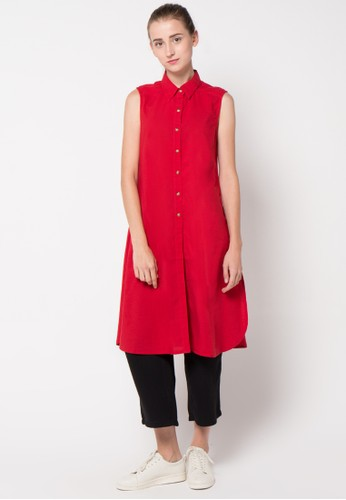 GRAPHIS red Sleeveless Blouse GR530AA34FCJID_1