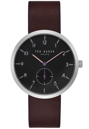 TED BAKER black and brown Ted Baker JOSH - Black Dial with Brown Leather Strap & Purple Accents (TE50011001) 745A5ACC2973E7GS_1