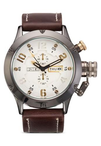PU 錶帶撞色手錶, 錶類, 運動esprit outlet型