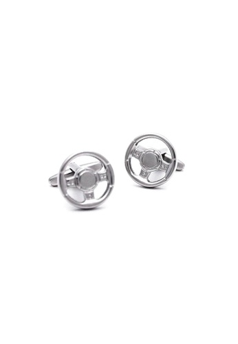 Red Stag And Hind silver Red Stag And Hind Matte Silver Car Steering Wheel Cufflinks 2400DAC1FCB9E8GS_1