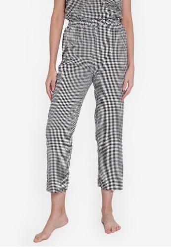 ZALORA BASICS 多色 Lounge Contrast Flannel Pyjama Pants E6E18AAC6C9A5BGS_1