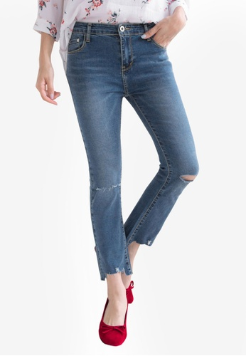 Tokichoi blue Slit Knee Denim Jeans 44AFAAAA87AB48GS_1
