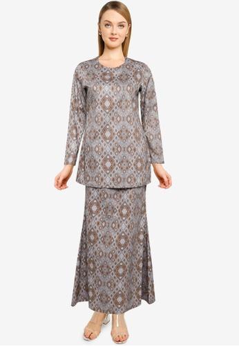 Butik Sireh Pinang grey Baju Kurung Moden Rossa 81381AA8AB23CEGS_1