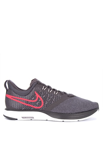 9412f3ee10a9 nike grey and red womens nike zoom strike running shoes a5940sh6e97cbegs1