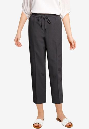 Banana Republic grey Slim Pull On Modern Seersucker Pants A12ADAAEC6D912GS_1