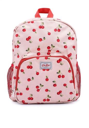 Cath Kidston pink Cherries Large Backpack with Mesh Pocket BA077KCF3B6886GS_1