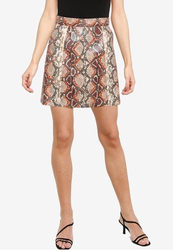 French Connection beige Bonnie Pu Skirt B1E97AA01B5E86GS_1