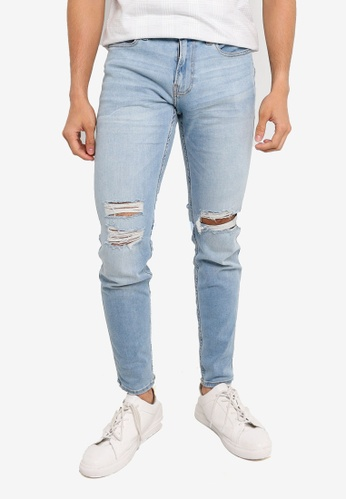 Hollister blue Superskinny Destroyed Jeans EF7C0AAA0D21C1GS_1