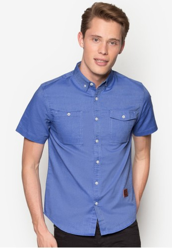 Short Slesprit官網eeve Woven Shirt, 服飾, 襯衫