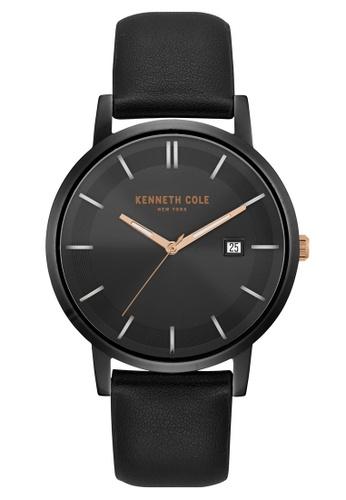 Kenneth Cole black Kenneth Cole Men's 3 Hand Black with Black Strap - KC15202004 KE854AC0FKH2SG_1