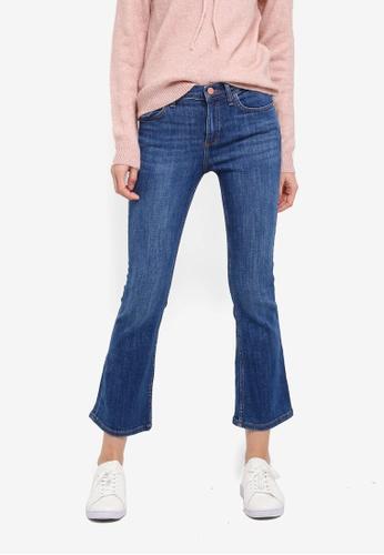 Mango blue Flare Trumpet Jeans MA193AA0T1KVMY_1