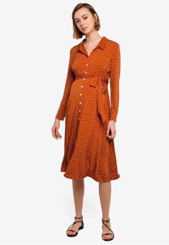 cdbbb1859faa5 Buy Dorothy Perkins Maternity Ginger Midi Shirt Dress Online on ZALORA  Singapore