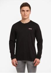 2GO black Long Sleeve Round Neck T-Shirt 2G729AA0S5YYMY_1