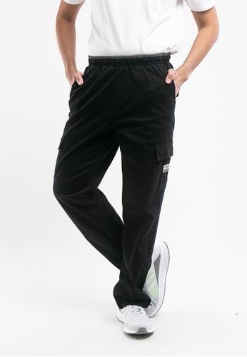 FOREST black Forest Plus Size Strechable Cotton Woven Cargo Long Pants - PL10715-01Black 33A5CAA5D711B4GS_1
