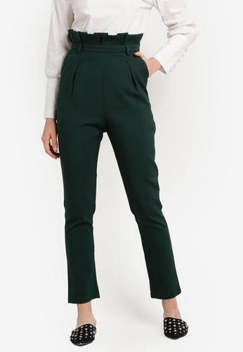 Zalia green Paper Bag Pants E3A88ZZ77F71C0GS_1