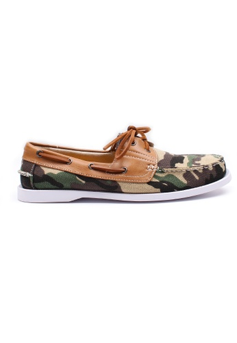 Moley green Camo Canvas Boat Shoe MO329SH0HAVHSG_1