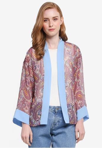 One-Ra BY DYNAS MOKHTAR multi Chiffon Kimono E810CAA0DE5DF9GS_1