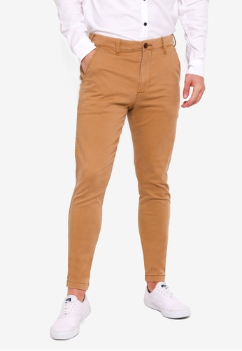 Hollister 褐色 Super Skinny Chinos BFE32AA78C850AGS_1