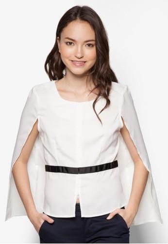 Opal 披肩蓋袖修身上衣, esprit專櫃服飾, 服飾