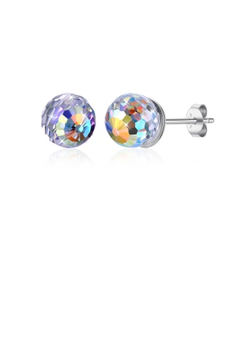 Glamorousky multi 925 Sterling Silver Sparkling Elegant Fashion Crystal Ball Earrings with Austrian Element Crystal 3FE04ACB9B4FABGS_1