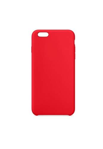 MobileHub red iPhone 6 Plus Soft Silicone Case Rubberized Finish 74D01ACBD161B9GS_1