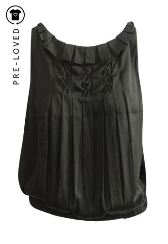 Diane Von Furstenberg black Pre-Loved diane von furstenberg Drape Top C3A89AA6517F76GS_1