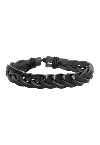 Elfi black Elfi Stylish Rock Fashion Adjustable Black Leather Bracelet LB18 99273ACF6D2F3BGS_1