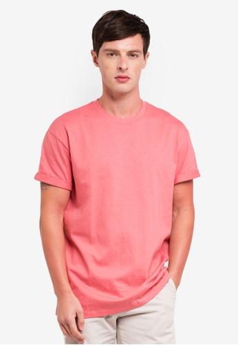 Topman 粉紅色 oversizedT恤 4CB09AAAFF740DGS_1