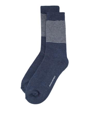Banana Republic 海軍藍色 條紋襪子 69630AA46F7451GS_1