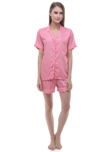 Madeleine's Pink Rayon Short Pajamas