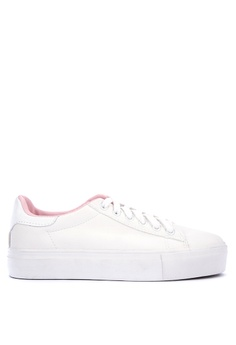 Wade white Round Toe Lace up Sneakers EFAFASH7A1F11FGS_1