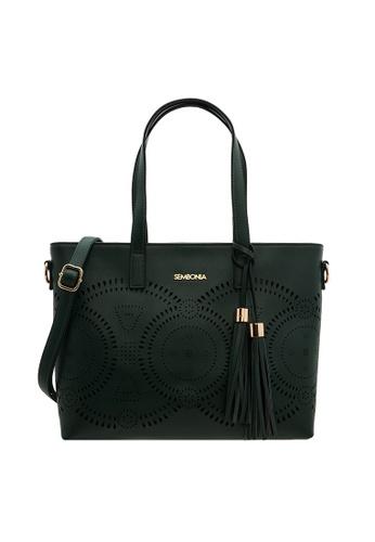 SEMBONIA green SEMBONIA Synthetic Leather Tote Bag 1712DAC57163B6GS_1