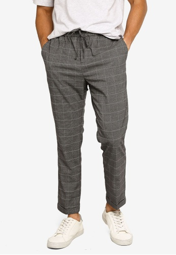 H&M grey and multi Slim Fit Joggers 93D56AA6C63CF0GS_1