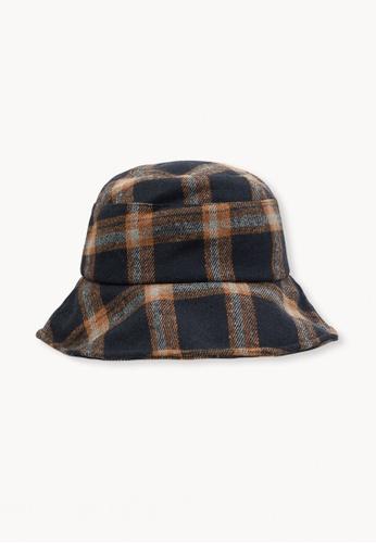 Buy Pomelo Plaid Bucket Hat - Orange Online on ZALORA Singapore 789c1db3f68