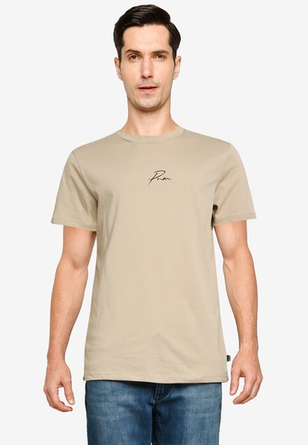 Jack & Jones beige Graphic Crew Neck T-Shirt A17FFAAFD7A910GS_1