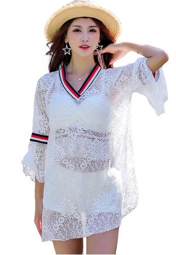YG Fitness white (3PCS) Sexy Lace Bikini Swimsuit Set 23710US51BCE59GS_1