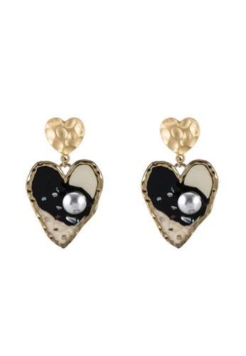 Megane black Kookie Heartz Earrings FE17AACCE9B6CBGS_1
