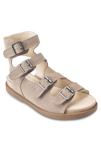 多扣環羅馬涼鞋、 女鞋、 鞋SomethingBorrowed多扣環羅馬涼鞋最新折價