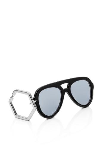 HEX EYEWEAR black HEXETATE Eyewear Accessories Sunglasses Key Chain Glasses Key Chain 3C12FAC9D4290FGS_1