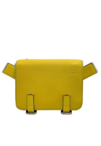 LOEWE yellow Loewe Military stripes  Messenger Bag in Yellow/Multicolour F9301ACCEEBF20GS_1