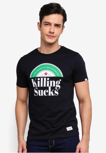 High Cultured black Killing Sucks Tee - 661 E3AA3AA797DA6CGS_1